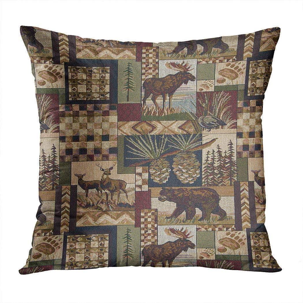 Vintage Plush Square Cushion Cover Waist Throw Pillow Case Home Sofa Decorative