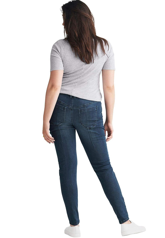 1fc661e57ab Ellos Women s Plus Size Moto Skinny Jeans at Amazon Women s Clothing store
