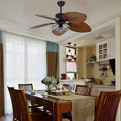 meno lampadina Retr/ò Ventilatore da soffitto industriale con luci Premium da 52 pollici Luci Telecomando a 3 velocit/à 3 luci per casa//ristorante stile rustico