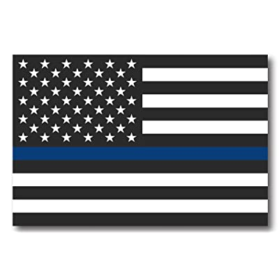 Thin Blue Line American Flag Magnet Decal - Heavy Duty for Car Truck SUV: Automotive