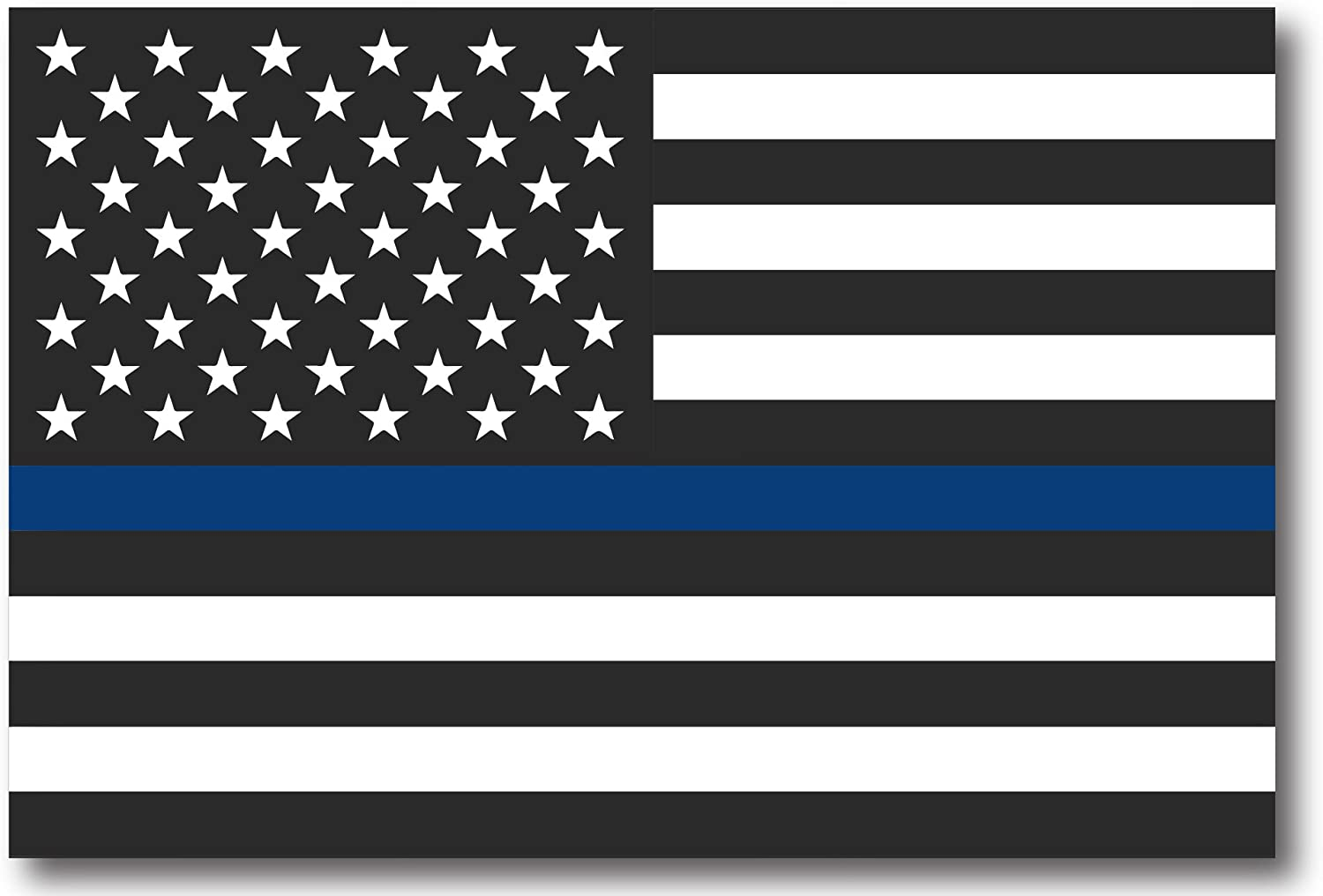 Patriot Wholesale Direct Thin Blue Line American Flag Magnet 4x6 Heavy Duty 55mil Magnet for Support of Law Enforcement 4