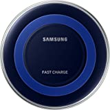 Samsung Qi Certified Fast Charge Wireless Charger (Universally compatible with all Qi enabled phones) - Black/Blue