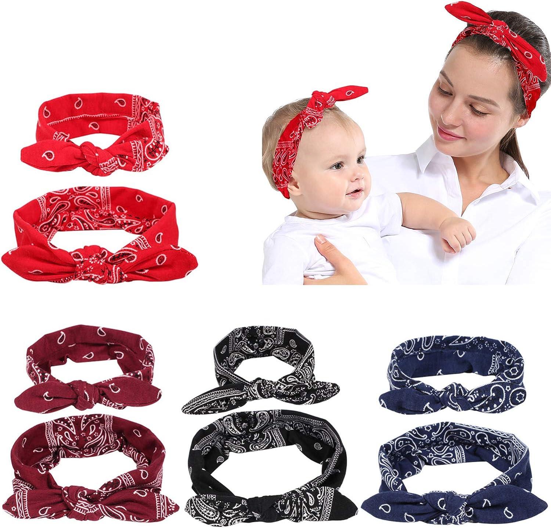 2Pcs Mom /& Baby Headband Bow Hair Band Accessories Headwear Fine Nett