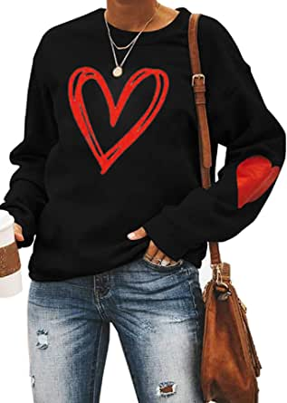 Valentines Day Women Plaid Leopard Tunic Top Graphic Print Splice Shirt Long Sleeve Blouse