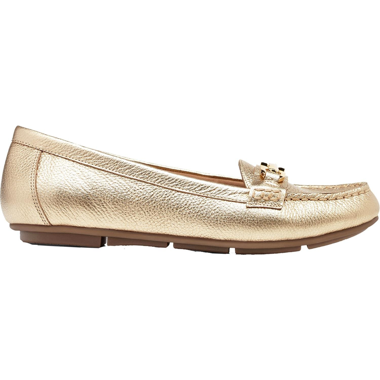 Vionic with Orthaheel Technology Women's Kenya Loafer,Gold,US 7 M