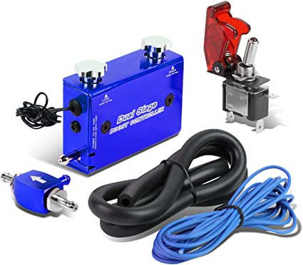 BLUE 30 PSI UNIVERSAL DUAL STAGE ADJUSTABLE MANUAL GAUGE TURBO BOOST CONTROLLER