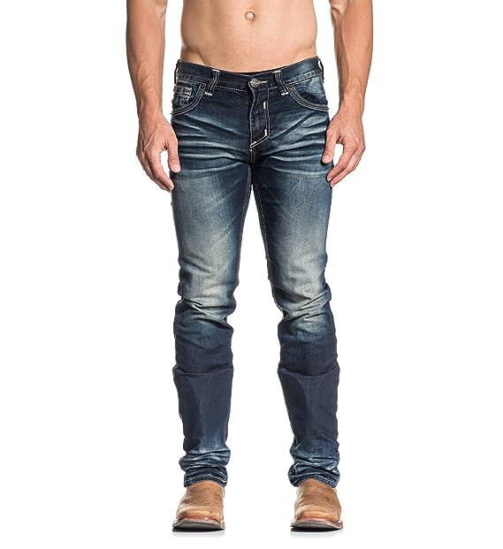 0b35d23804e American Fighter Men s Legend Rudy Nashville Wash Denim Pants at Amazon  Men s Clothing store