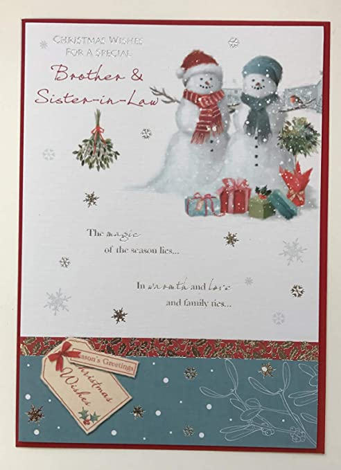 Christmas Card Greetings.Amazon Com Brother And Sister In Law Christmas Card
