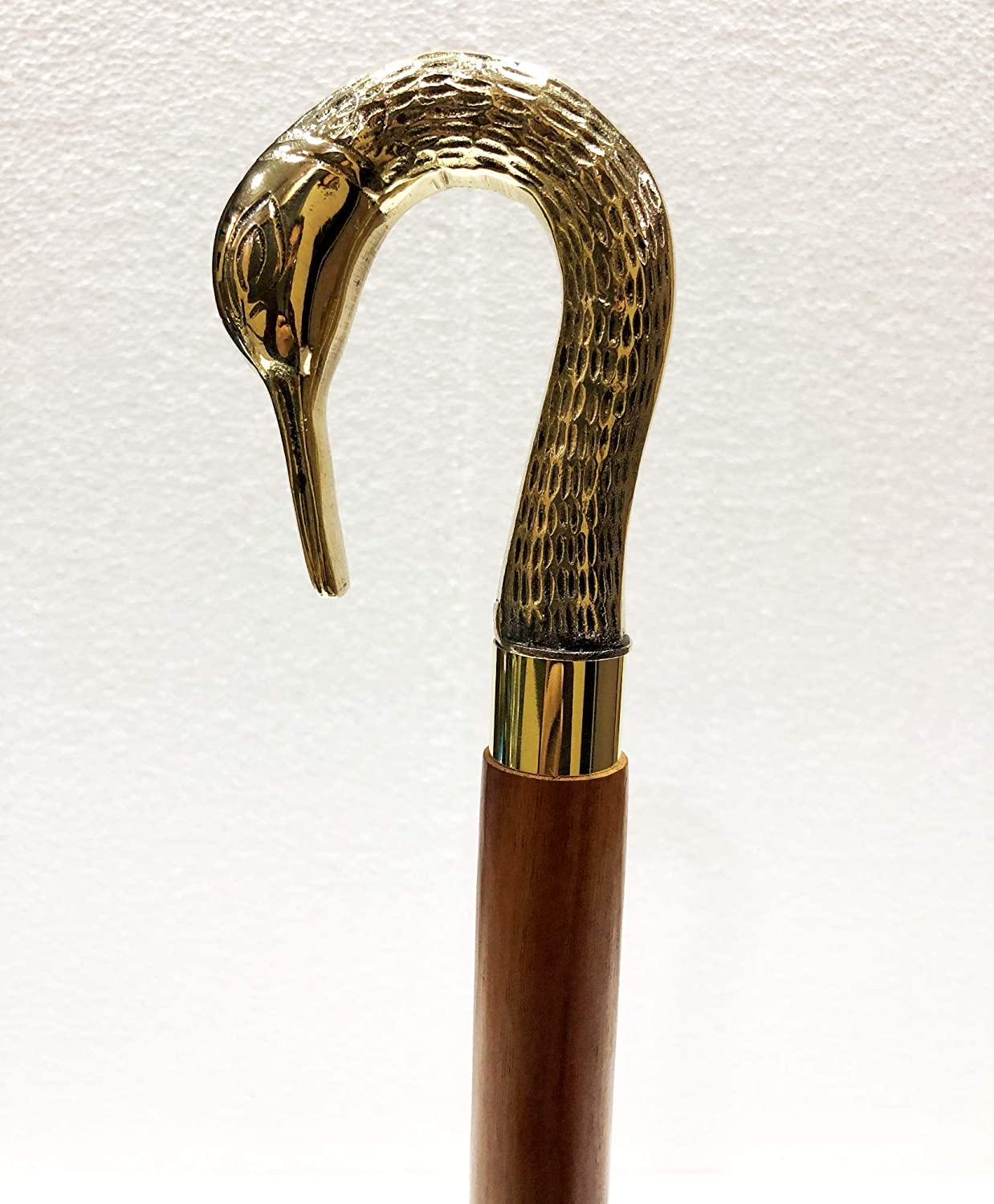 Details about  /Collectible Nautical Lion Design Brass Handle Wooden Walking Stick Item 3 Fold