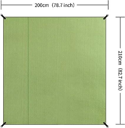 YUEDGE B/âche Tarp Toile de Tente Tapis de Sol Pare-Soleil Portable L/ég/ère Pliable Imperm/éable pour Camping Randonn/ée Pique-Nique