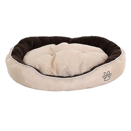 Songmics Cama para perros gatos mascotas ovalada Cojín reversible M: 75 x 58 x 15 cm PGW42M: Amazon.es: Coche y moto