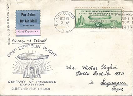 Amazon com : 1933 Graf Zeppelin Flight Letter And Cover Flew