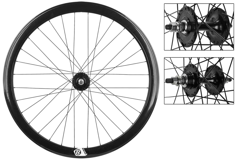 WHEELMASTER自転車ホイールセット、700 or8 42 mm BK NMSW 32 or8 FX / FX Loose BK 120 mm dti2.0bk   B00H63KWX4