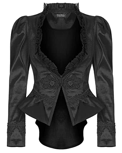 dba3d5533ccd Punk Rave Womens Gothic Tailcoat Jacket Black Steampunk VTG Victorian  Vampire  Amazon.co.uk  Clothing
