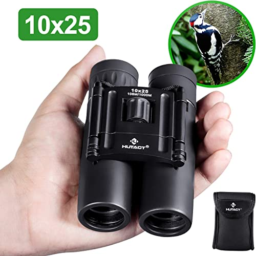 Dranbol 12X25 Small Compact Binoculars for Bird Watching Outdoor Hunting Travel Hiking Theatre Opera Concerts Shows. Pocket Folding Lightweight Opera Glasses Binocular for Adults Kids Women and Men