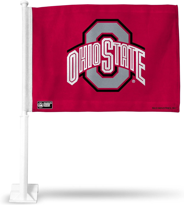 Team Color Promark NCAA Ohio State Buckeyes Flag Set 2-Piece Ambassador Style One Size