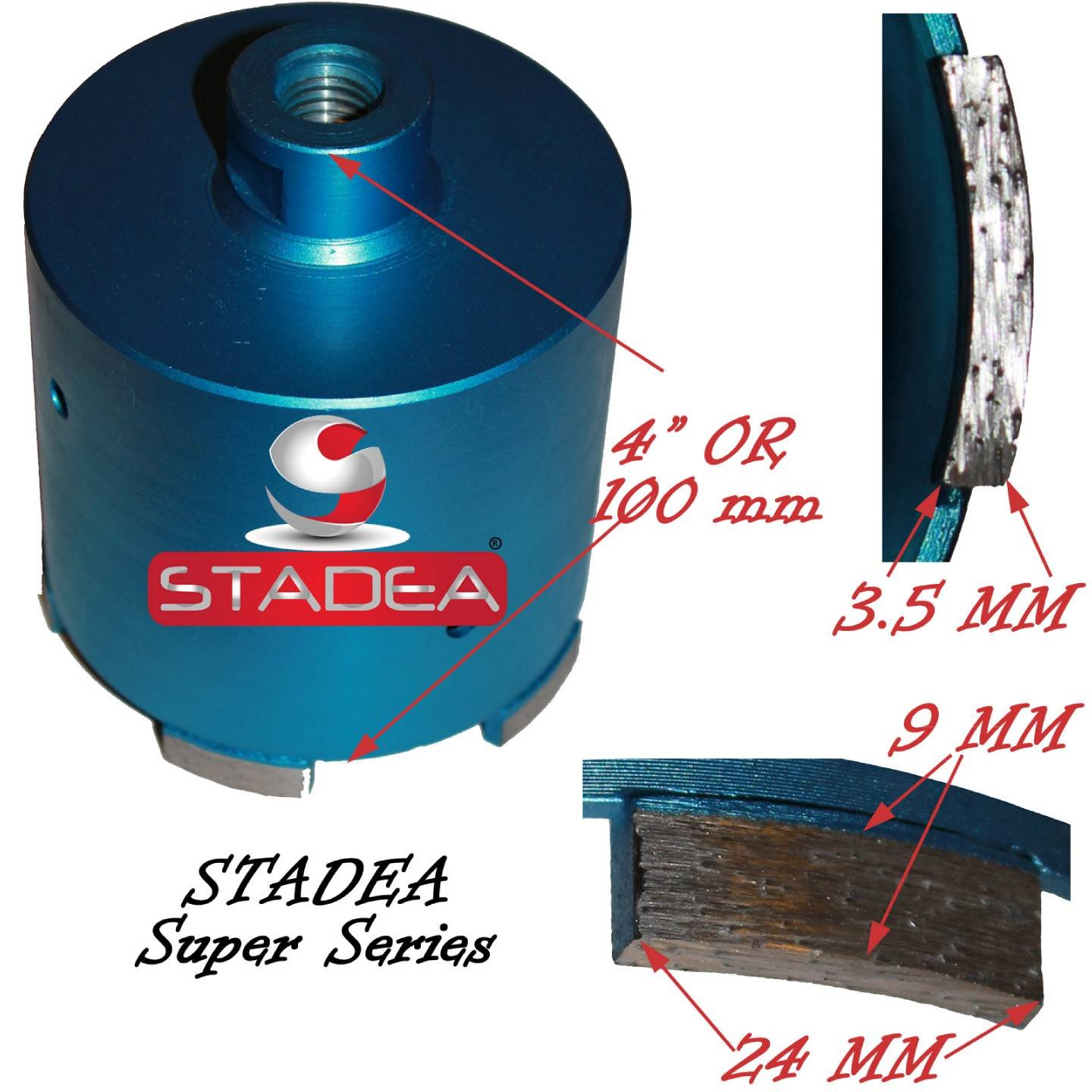 3 5/8'' diamond hole saw bits for concrete granite - Core Drill Bits Marble Stone Tiles Masonry Drilling Coring By Stadea by STADEA