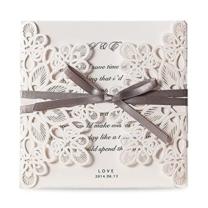 Amazon doris home square wedding invitations cards kits fall doris home square wedding invitations cards kits fall bridal or baby shower invite birthday invitation stopboris