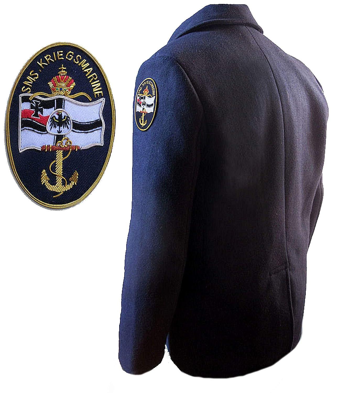 Blu Militare it Panno Tedesca Amazon Giaccone In Peacoat Marina fnpAWwqz