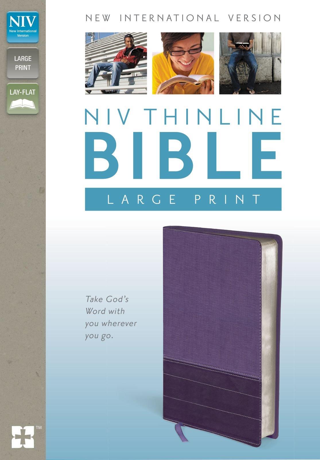 NIV, Thinline Bible, Large Print, Imitation Leather, Purple, Red Letter  Edition: Zondervan: 0025986435998: Amazon.com: Books