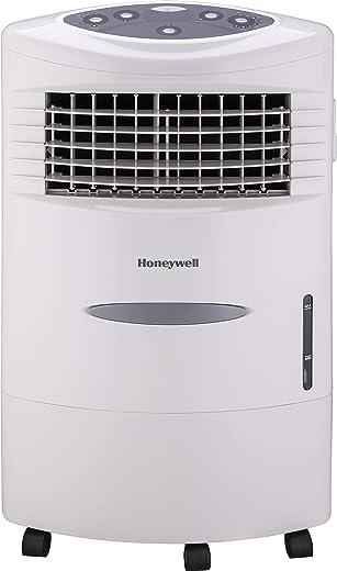مبرد هواء هوني ويل - مبرد هواء محمول تبخري داخلي مع 4 سرعات مراوح وترطيب قابل للتعديل، مبرد هواء محمول مع حجرة ثلج وجهاز تحكم عن بعد - CL20AE، رمادي بارد