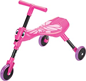 Swingball Scuttlebug Ride On - Walking Tricycle with a Foldable Design - Pink