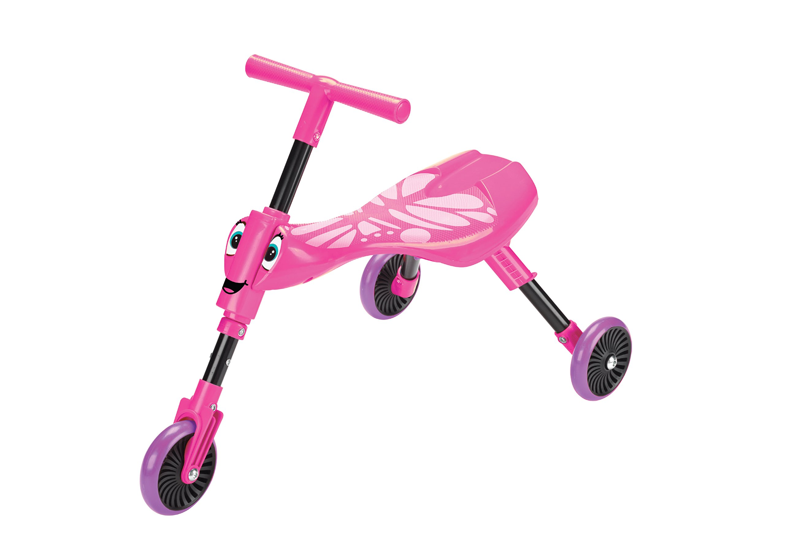 Swingball Scuttlebug Ride On - Walking Tricycle with a Foldable Design - Pink by Mookie