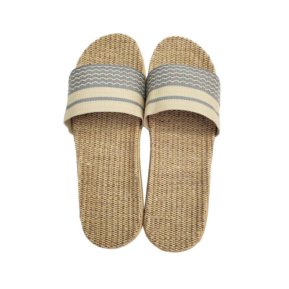 HRFEER Home Slippers Women Linen Indoor Shoes Men Beach Slipper Silent Flip Flops for Women Sandals by HRFEER (Image #4)