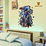 3D Style The Transformer Wall Decal Home Sticker House Decoration WallPaper Removable Living Dinning Room Bedroom Kitchen Art Picture Murals DIY Stick Girls Boys kids Nursery Baby Playroom Decoration