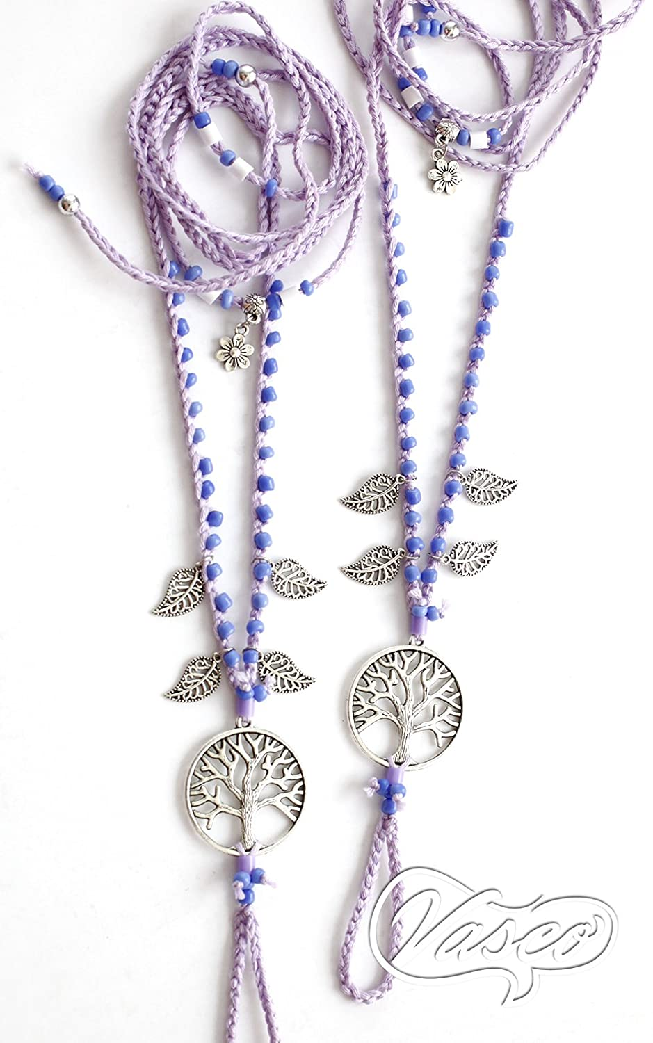 Tree Of Life Anklet Lilac Barefoot Sandals