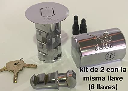 Kit de 2 cerraduras de alta seguridad MVM modelo K-DF misma llave