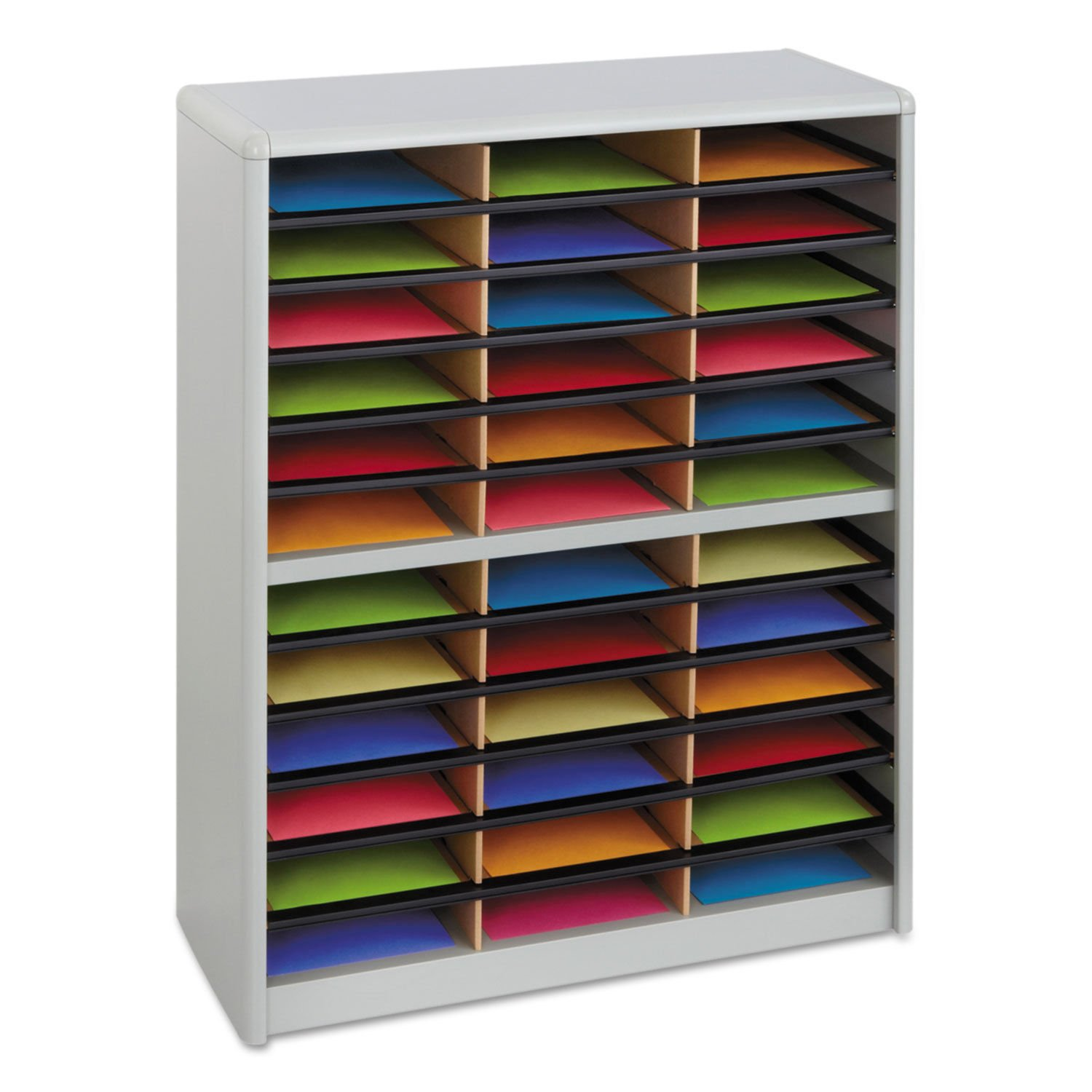 7121GR Value Sorter Literature Organizer, 36 Compartment, Gray NEW