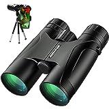 12X50 Powerful Binoculars, High Power HD Binocular for Adults with Smartphone Holder & Tripod, Waterproof Binoculars…