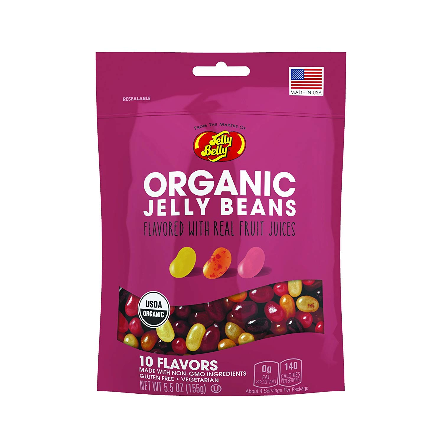 Jelly Belly Organic Jelly Beans, 10 Fruit Flavors, 5.5-oz by Jelly Belly