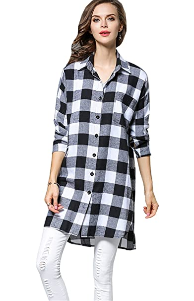 separation shoes 02589 bcc80 JOTHIN 2018 Autunno Invernali Plaid Camicia Larghi Casual ...