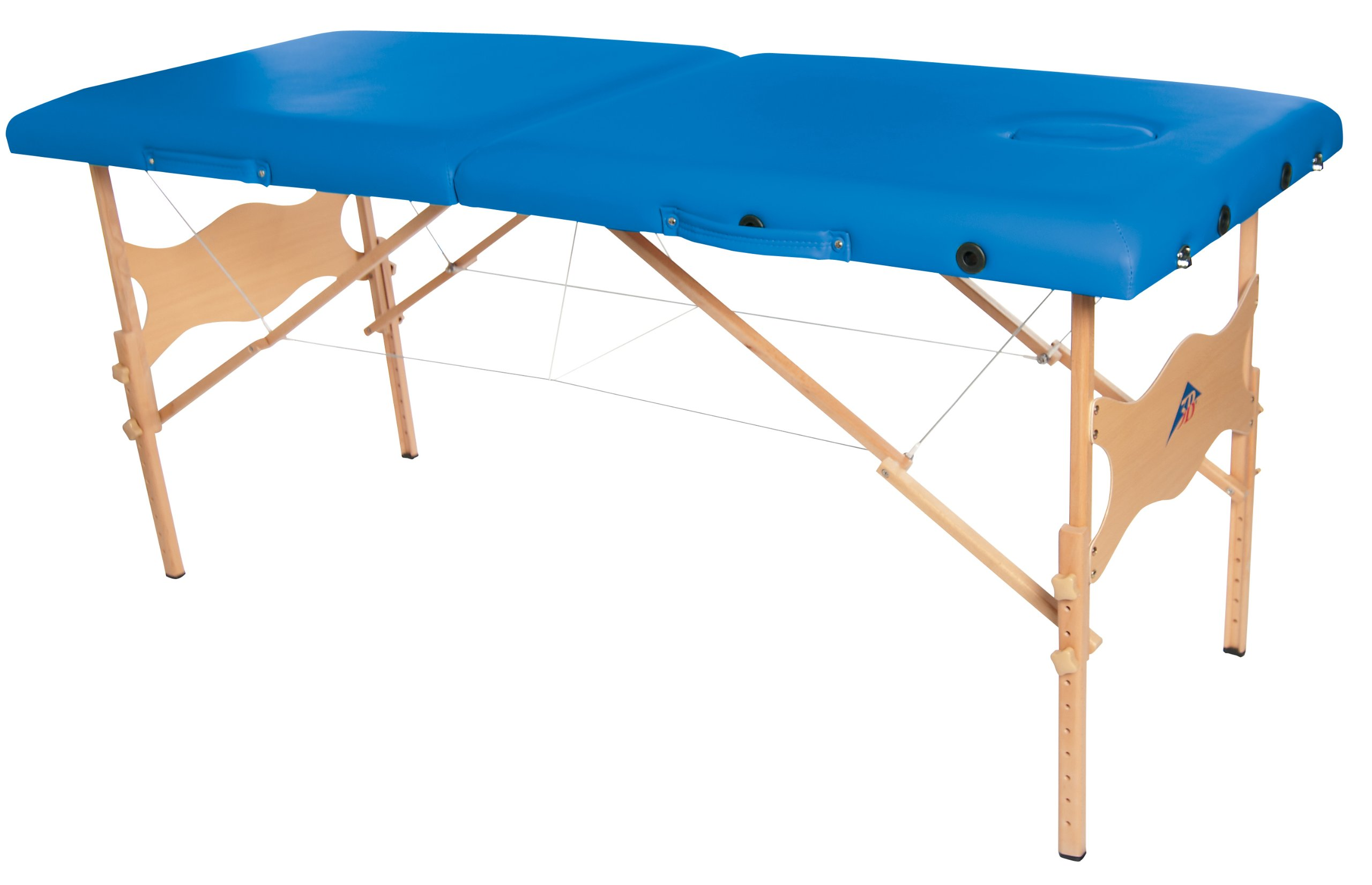 3B Scientific W60601B-1 Wood Basic Portable Massage Table, 550lbs Capacity, 25''-33'' Adjustable Height, Blue