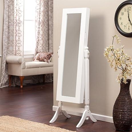 Amazon.com: Jewelry Armoire Cheval Mirror - Full Length Floor Free ...