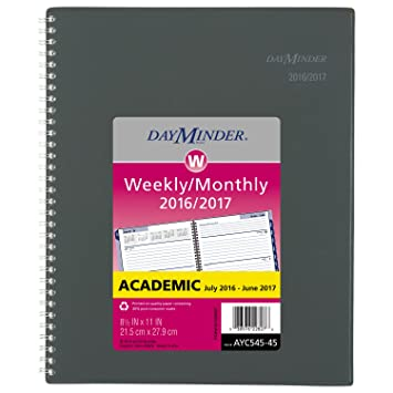 Amazon.com : DayMinder Academic Year Weekly / Monthly Planner ...
