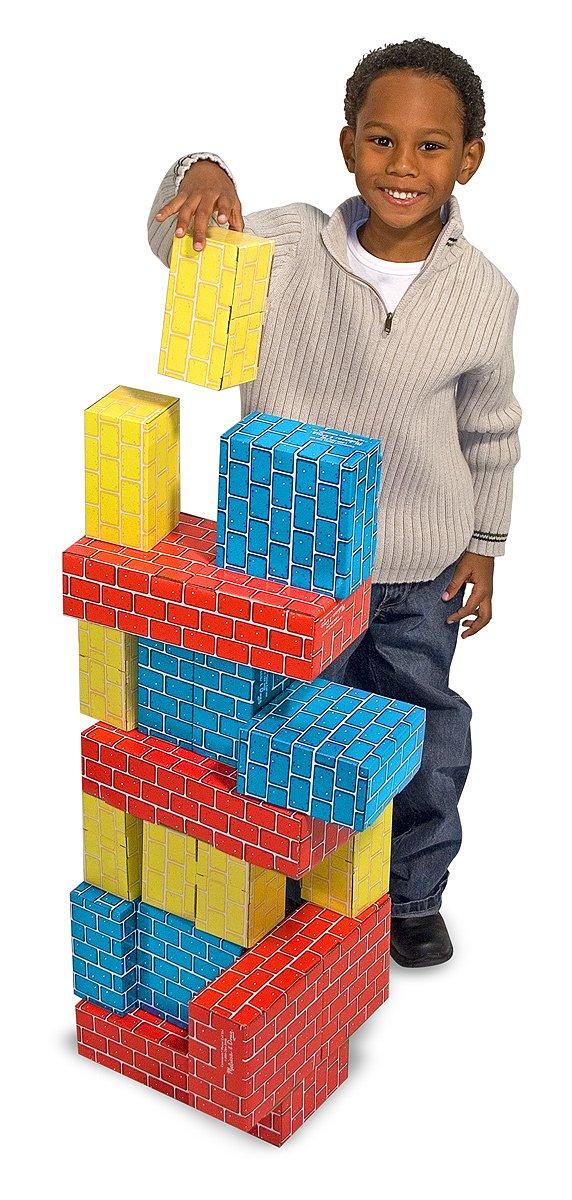 Melissa & Doug Extra-Thick Cardboard Building Blocks - 24 Blocks in 3 Sizes by Melissa & Doug (Image #5)