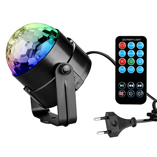 58 opinioni per Luci LED Discoteca Party luci stroboscopio- Spriak 7 colore LED Disco luci