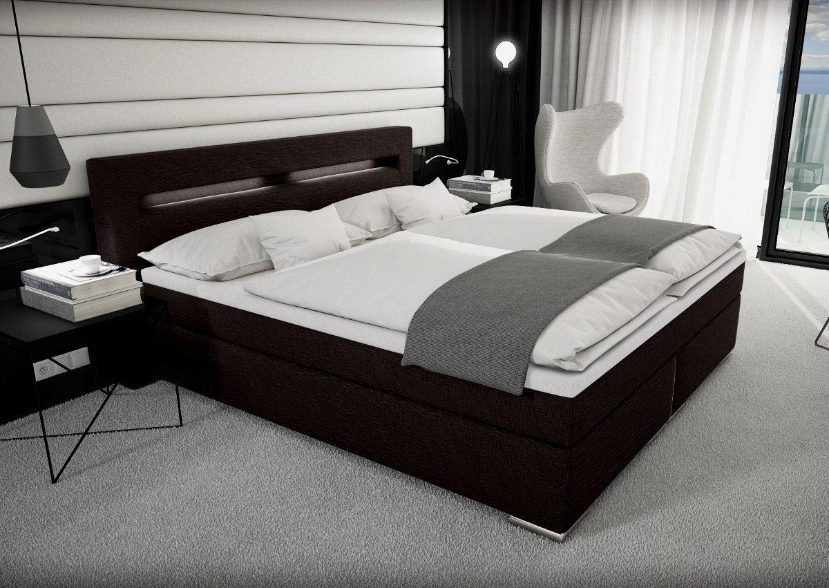 Liebenswert Betten Günstig Kaufen 180x200 Galerie Von Designer Stoff Boxspring Bett Mit Led Beleuchtung