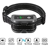 FOCUSPET Dog Bark Collar, Anti-Barking Control Bark Collar (Including Shock Mode and No Shock Mode) for Small Medium Large Dogs No Bark Collar