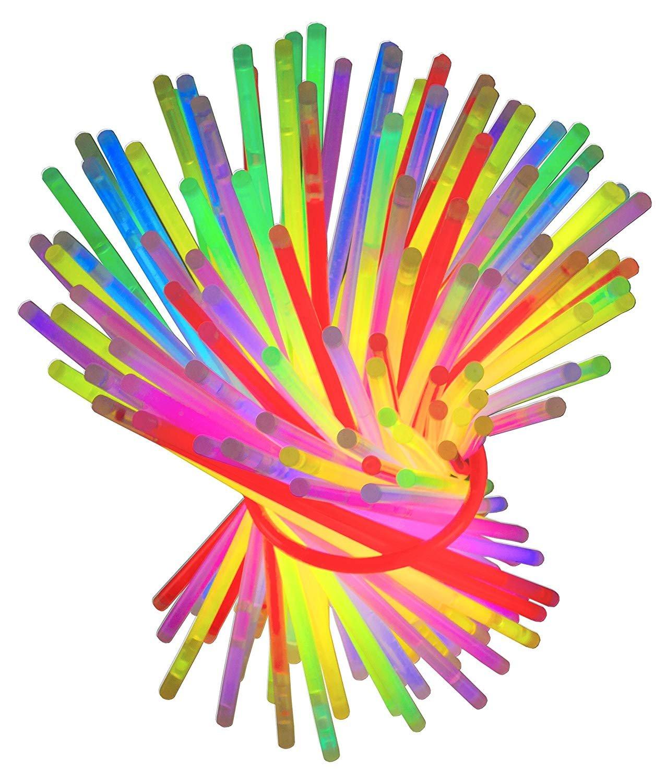 Pulsera fluorescente luz quí mica 100 piezas pulsera fluorescente enlace en psyllium con el partido de color al azar fiesta surtido banquete de verano evento matrimonio fiesta de graduació n pulsera fluorescente Naisidier