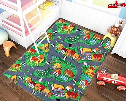 Tappeti Per Bambini Gomma : Tappeto gioco per bambini pista macchinine misure disponibili