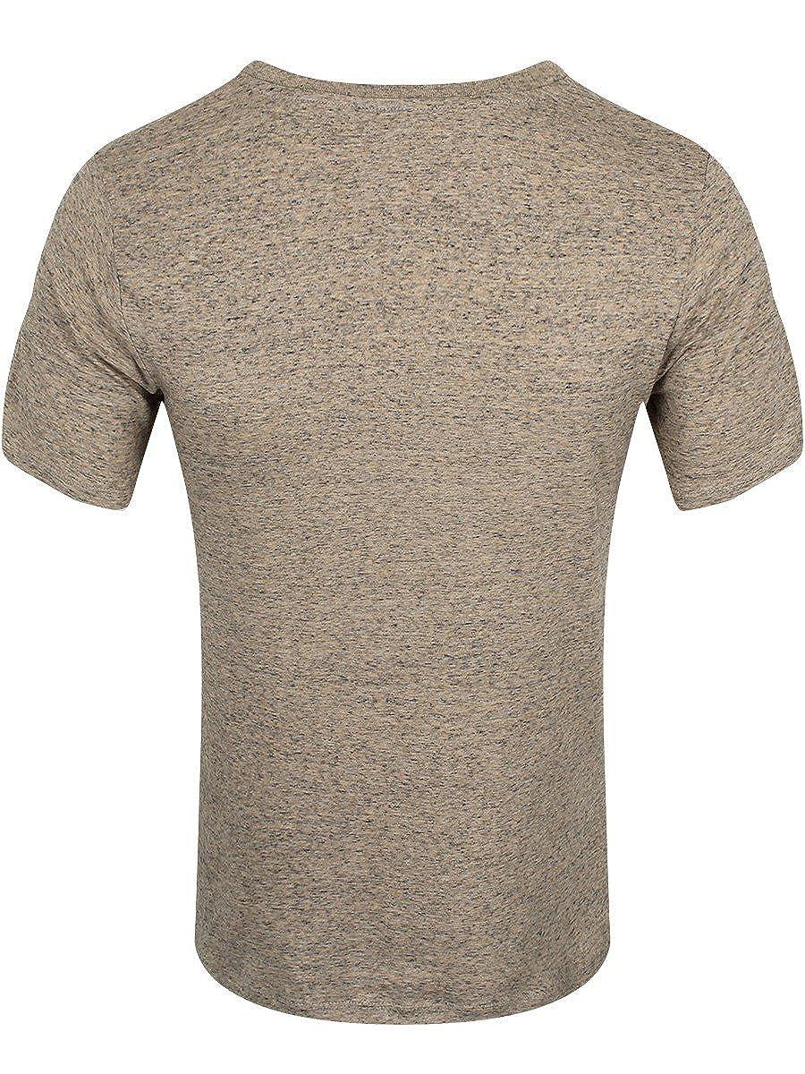b3728034 Amazon.com: Psycho Penguin Men's I'm Utterly Insane Heather Stone T-Shirt  Tan: Clothing