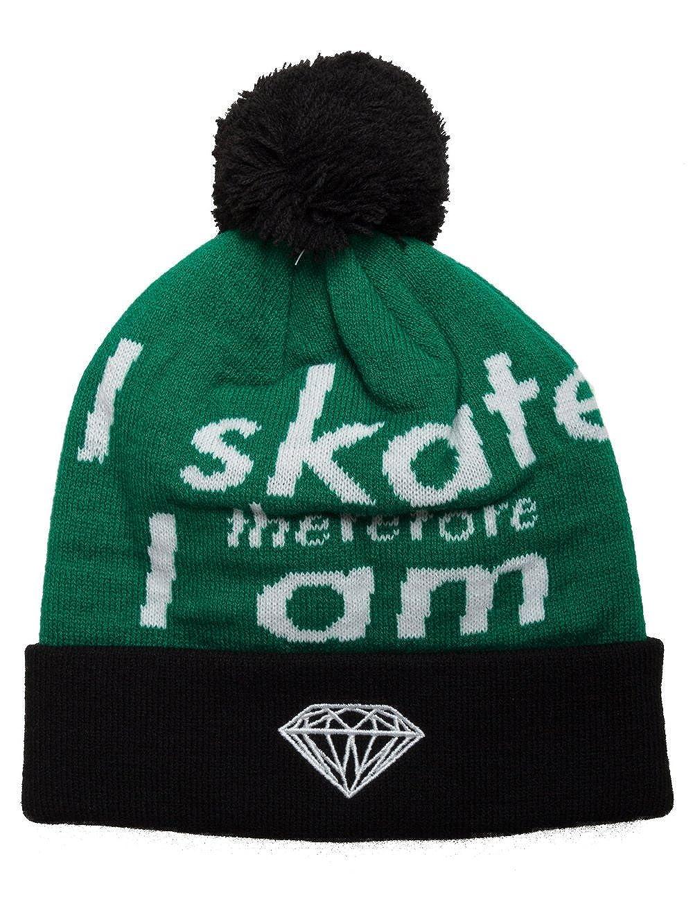- Diamond I Am Fold Beanie, Black Green