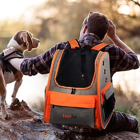 Portador de Perros, Mochila para Mascotas Ajustable y Transpirable ...