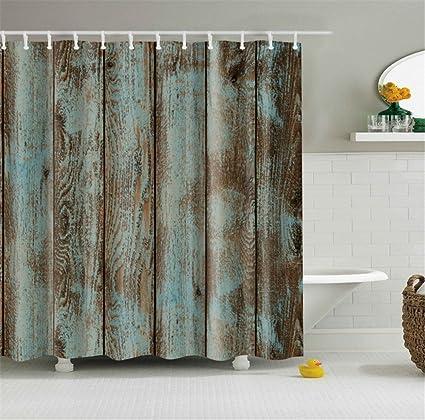 amazon com retro distressed old wood rustic boards bathroom shower