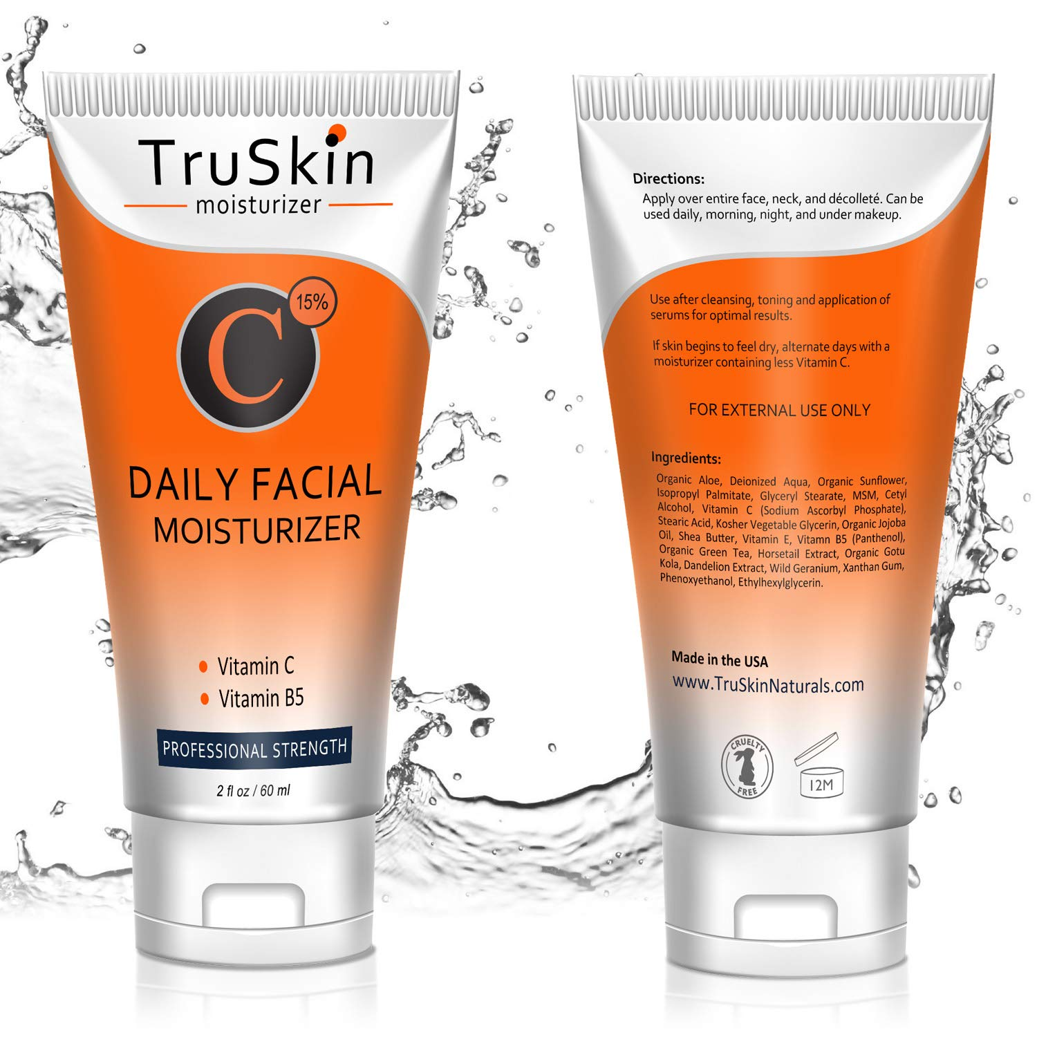 BEST Vitamin C Moisturizer Cream for Face, Neck & Décolleté for Anti-Aging, Wrinkles, Age Spots, Skin Tone, Neck Firming, and Dark Circles