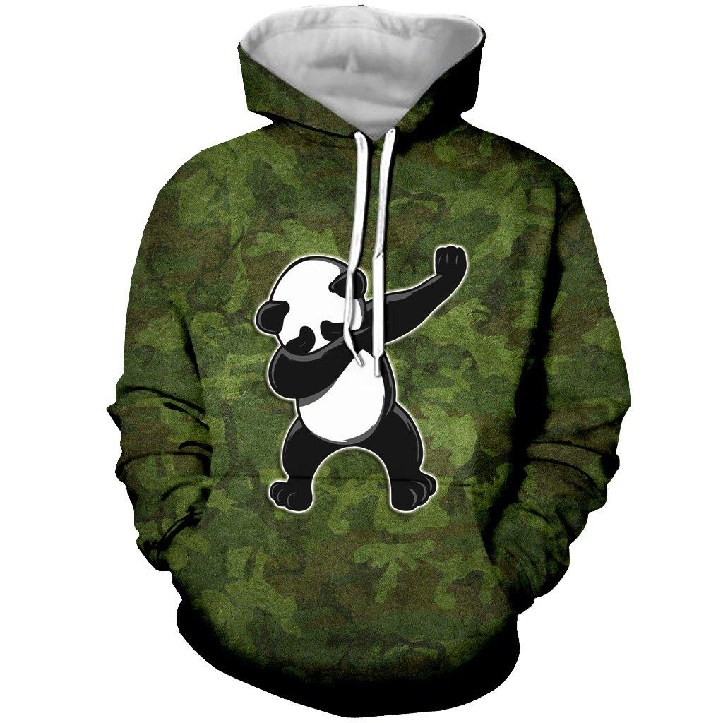 YX GIRL Unisex 3D Printed Camouflage Panda Hoodies Funny Hooded Sweatshirt Pockets (5XL, Panda Hoodies 03)
